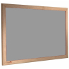 wood framed felt notice board - silver