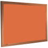 Tangerine Zest - 2211 - Forbo Nairn pinboard with wood frame