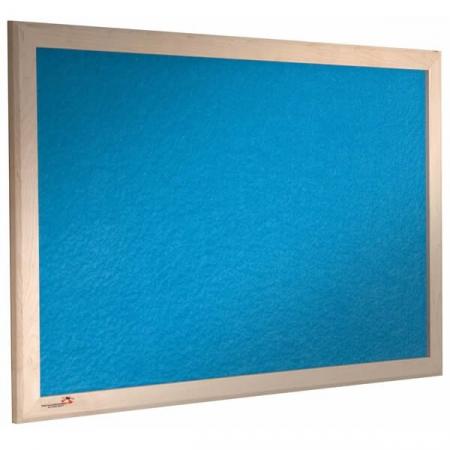 sundeala colour pinboard wood frame - blue