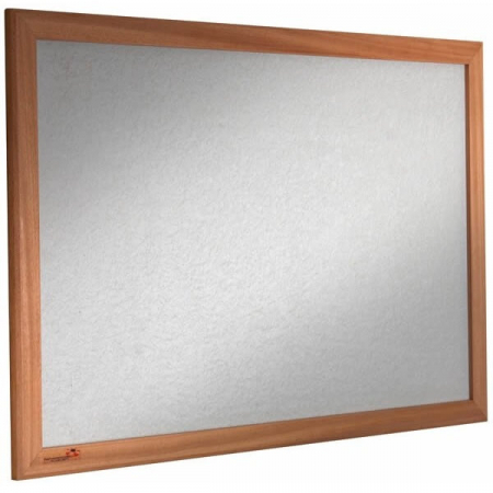 wood frame sundeala pinboard in grey