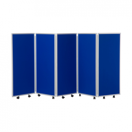 1200mm high 5 panel concertina room divider