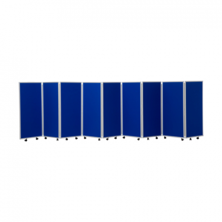 1200mm high 9 panel concertina room divider