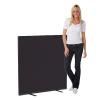 1200 x 1200 woolmix office screen - black