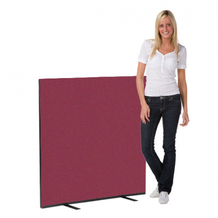 1200 x 1200 woolmix office screen - merlot