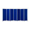 1500mm high 7 panel concertina room divider