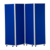 1800mm high 4 panel concertina room divider