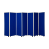 1800mm high 7 panel concertina room divider