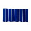 1800mm high 9 panel concertina room divider
