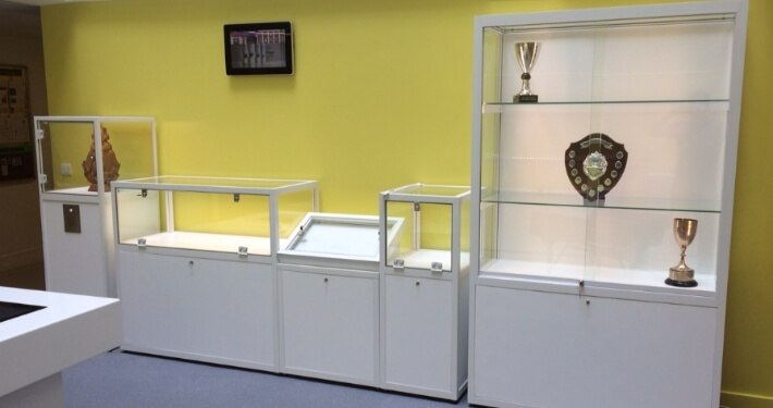 custom display counter and cabinets - urswick school
