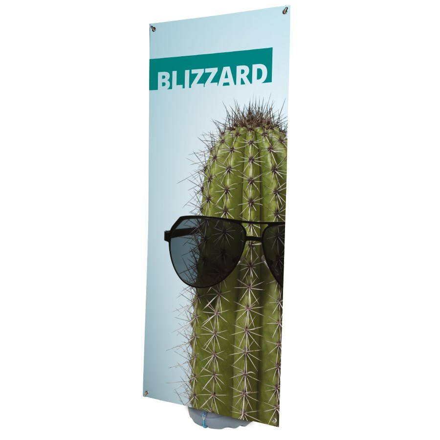 Blizzard Outdoor Banner Stand With Printed Graphic