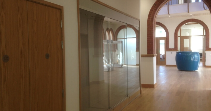 built in custom glass display case - argyll and bute council