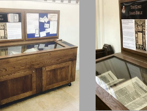 Custom display cabinet with notice boards – Great St. Mary's University Church