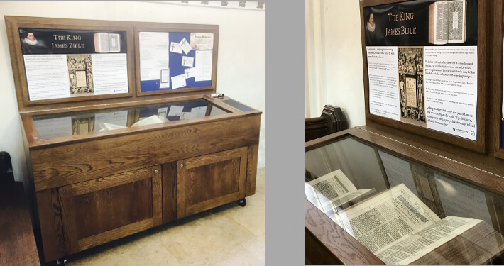 custom display cabinet with notice boards - university church