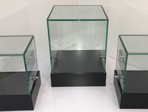 Custom glass display cubes – Microsoft Research