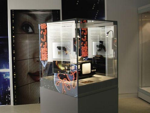 Custom glass display cases – Ridley Scott Exhibition