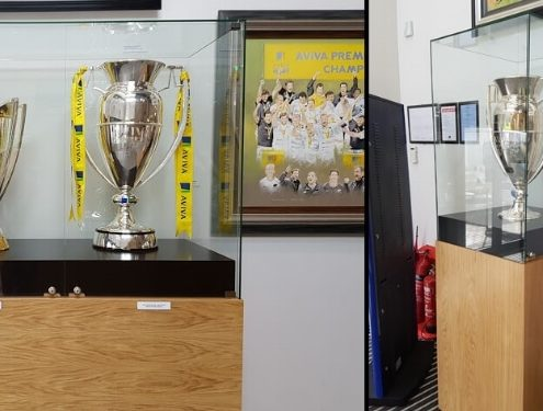 Custom trophy display cases – Saracens Allianz Park Stadium