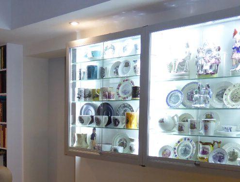 Custom wall display case