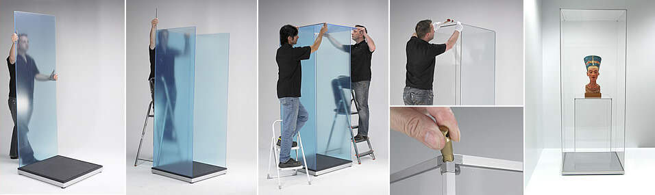 Demountable mannequin display cases