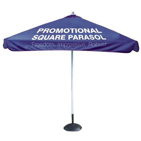 square promotional parasol