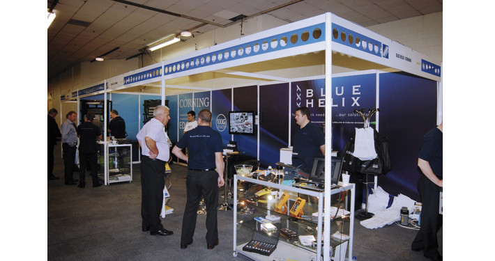 bluehelix shell scheme at telecoms show