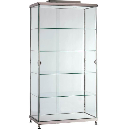 ac large upright glass cabinet hire
