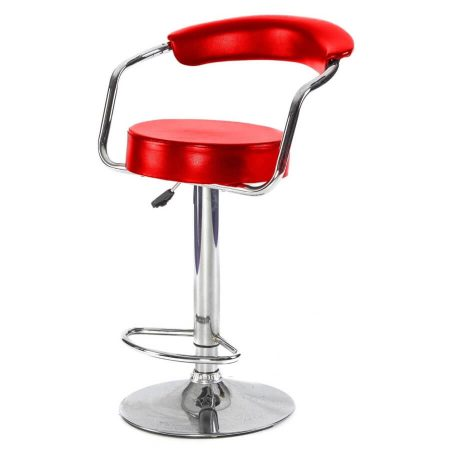 Comfort adjustable bar stool in Red