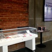 counter display case hire - ljmu exhibition