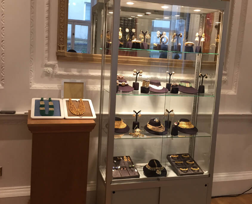 display cabinet hire indian high commission