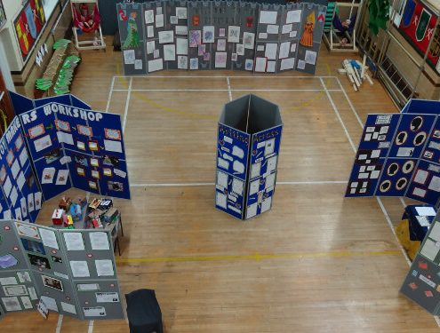 Folding display board hire - cape primary school