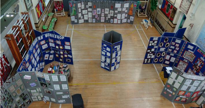 folding display board hire - cape primary school