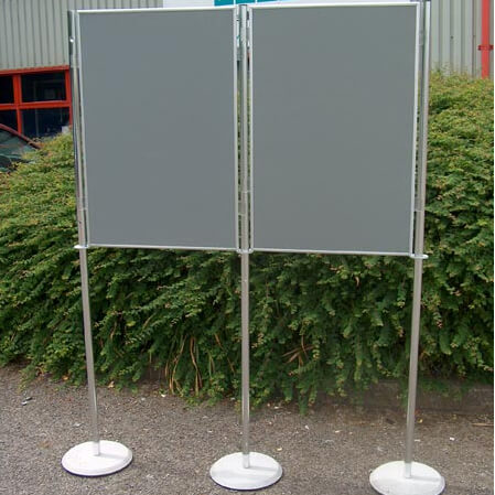 hire 2 display boards 900x600