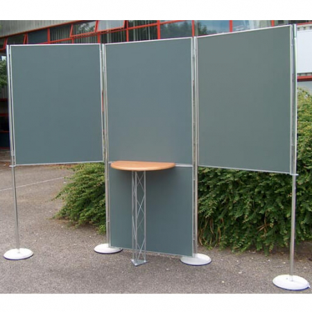 hire 3 display boards 1200x900 with worktop