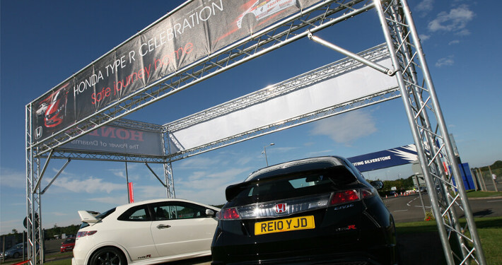 gantry and rigging hire - honda type-r celebration