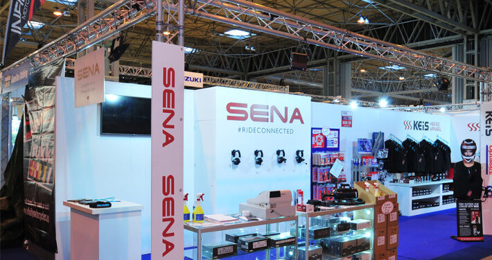 Custom Built Exhibition Stands : Exhibition truss hire stage of gantry for events