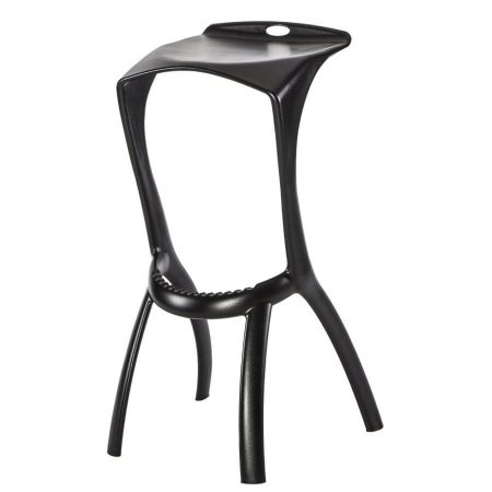 Hexa bar stool in Black