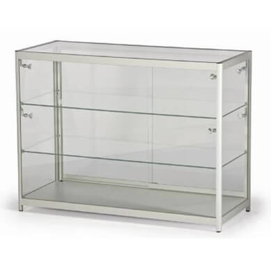 lc02 glass display case hire