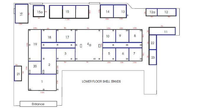 shell scheme hall plan example 5