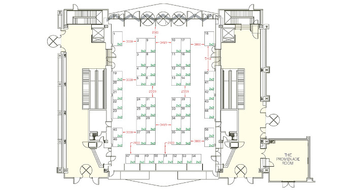 shell scheme hall plan example