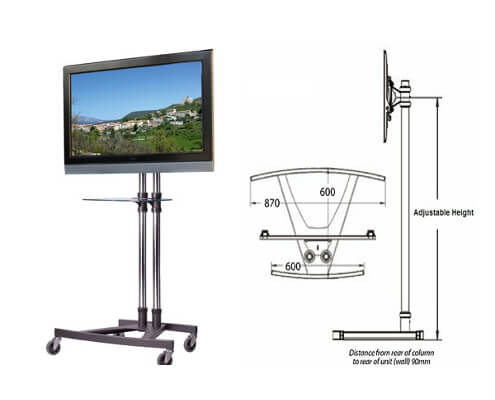 unicol trolley stand hire for screens