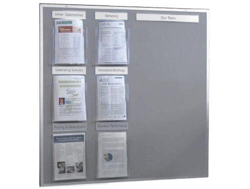 Bespoke felt notice board with pockets