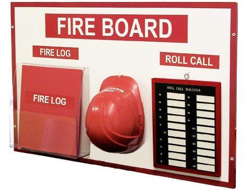 Custom noticeboard - Fire notice board