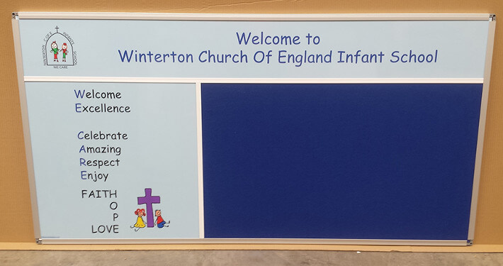 bespoke notice board - winterton