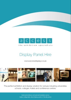 display panel hire brochure