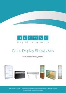 glass display showcases brochure