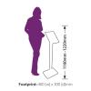Secure iPad Display Stand -footprint