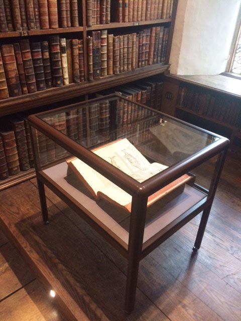 trinity college oxford display case 1