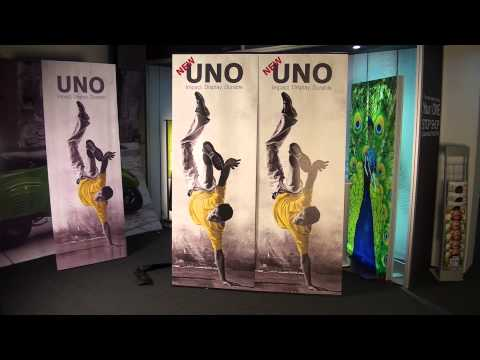 Uno banner stand