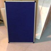 900 x 600 cork notice board in blue