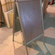 External A1 size galvanized Trapper framed A board for posters