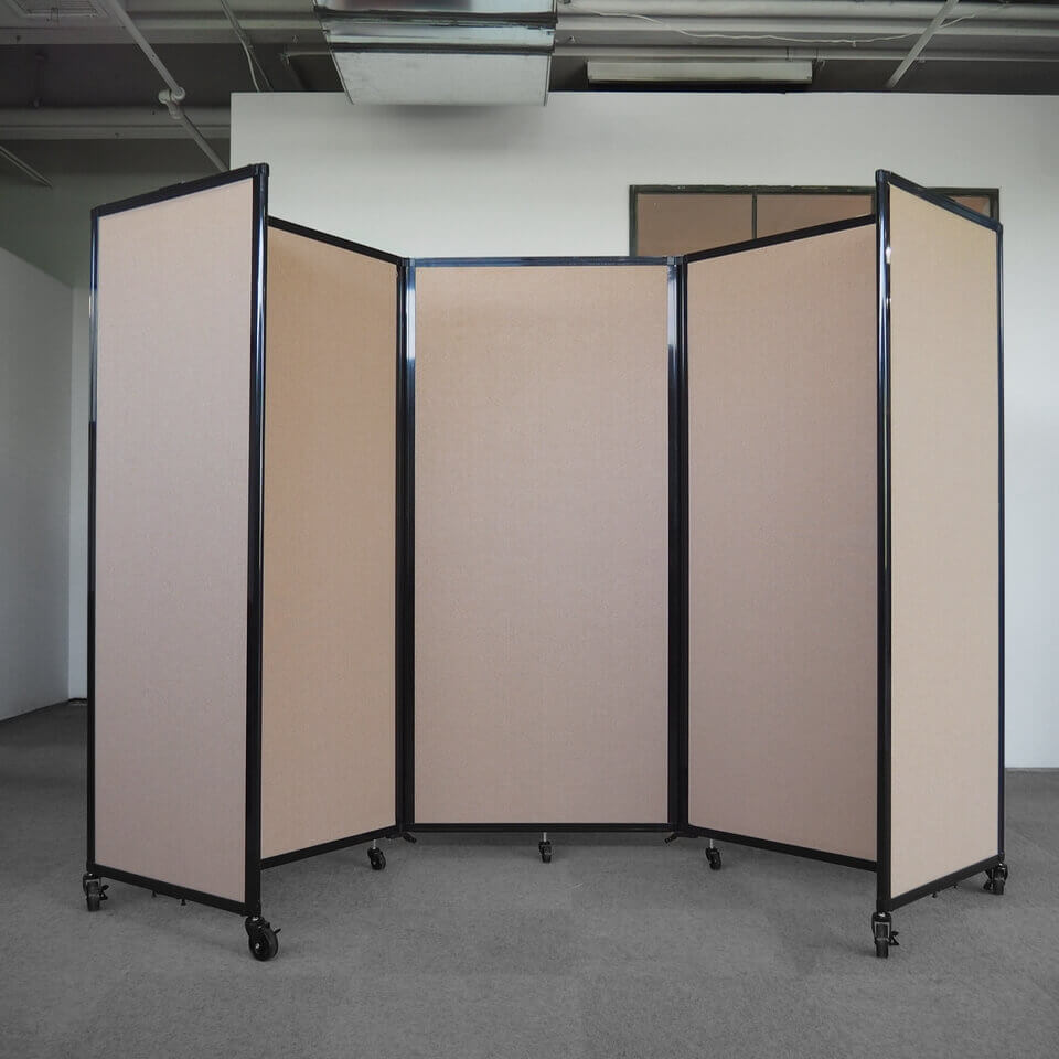 3 Panel Acoustic 360 Folding Room Dividers Access Displays